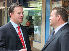 Tasmanian Liberal Candidate for Braddon Adam Brooks with Will Hodgman by TasLibs