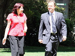 Tasmanian Liberal Candidate for Franklin Jacquie Petrusma and Will Hodgman by TasLibs
