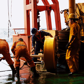 Working at sea