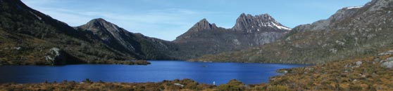 Dove Lake and Cradle Mountain are within the National Park