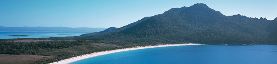 The world renowned beach destinations of Wineglass Bay and Bay of Fires