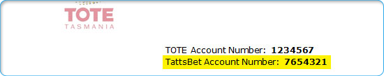 TattsBet Account Number Letter