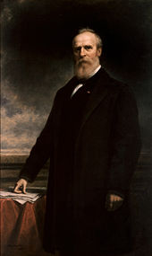 Painting of a bearded man, standing