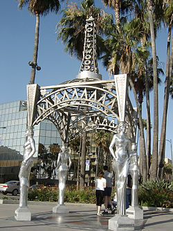 The Four Ladies installation at the Hollywood-La Brea Gateway
