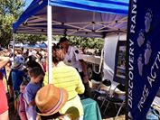 Photo: A steady stream of visitors were attracted to the stall.