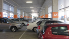 Undercover carpark with parked vehicles
