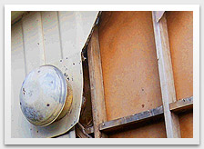 Photo of asbestos cement sheeting