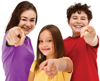 children pointing at you
