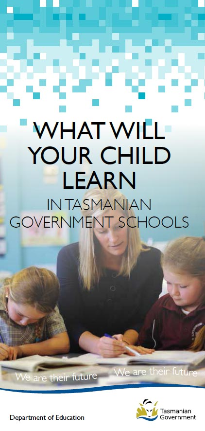 What will your child learn in Tasmanian Government Schools