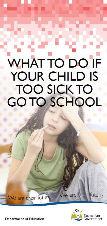 What to do if your child is too sick to go to school brochure cover